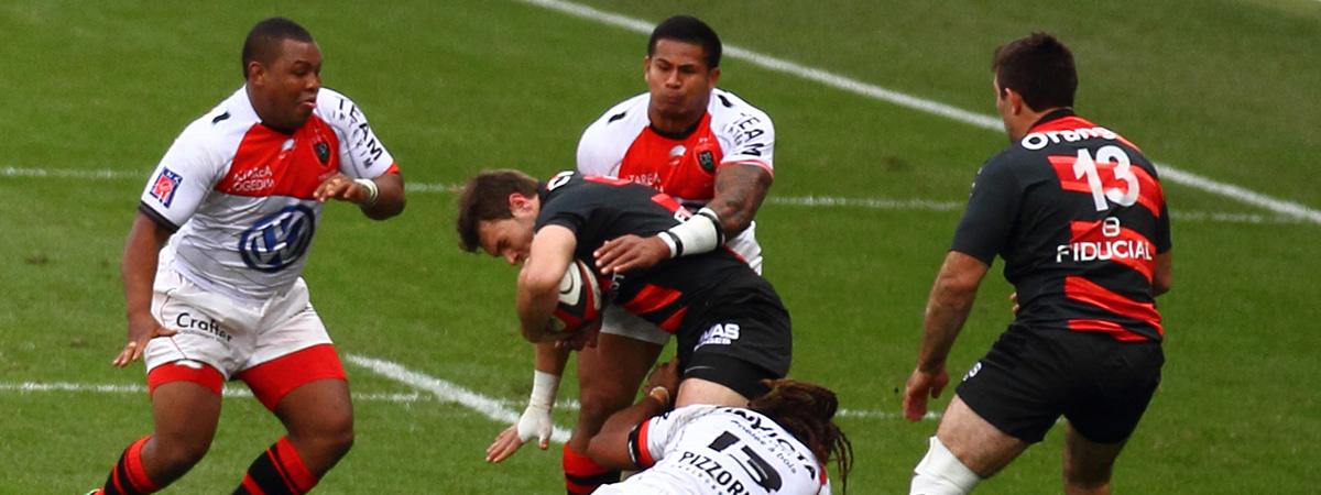 Match de rugby au Stade Toulousain- Equipo de rugby del Estadio Tolosano