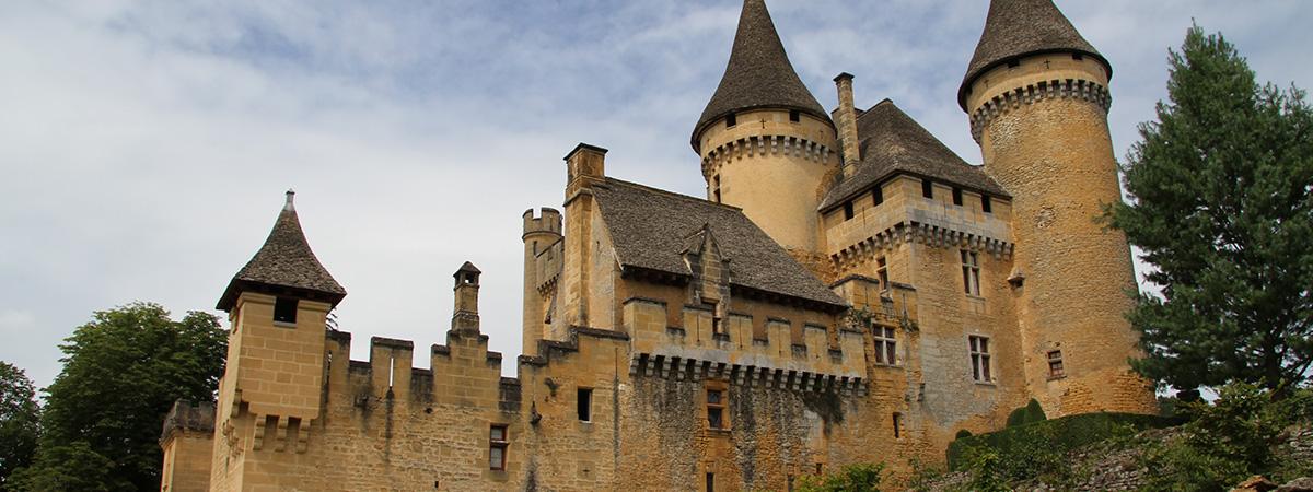 Le château de Puymartin en Dordogne - El palacio de Puymartin