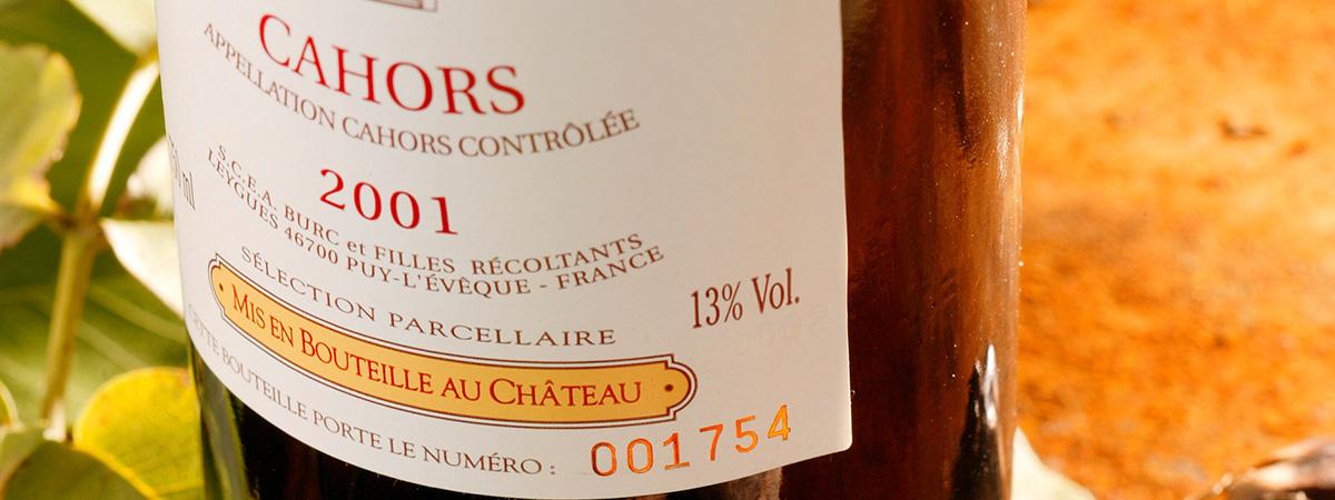 Vin de Cahors - Cahors wine - Vino de Cahors